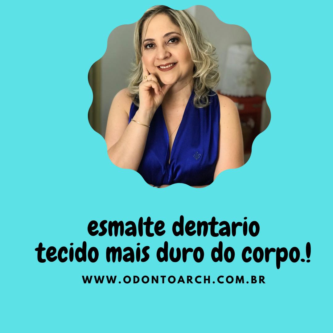Esmalte dentário , tecido mais resistente e mineralizado do corpo.